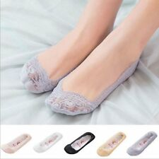 1 Pair Women Lady Invisible No Show Nonslip Loafer Boat Liner Low Cut Lace Socks