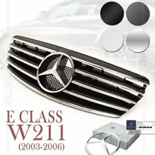 (4 Colors) Front Mesh Grille Sport AMG for Mercedes Benz E Class W211 2003-06 OE