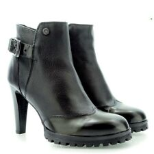 High Bootie Boots Leather shoes LOVE MOSCHINO Black 2110 *EU Size