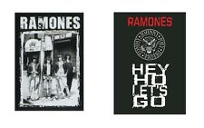 THE RAMONES - CBGB'S / HEY HO LETS GO LOGO - OFFICIAL TEXTILE POSTER FLAG