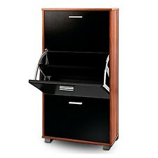 Storage Console Shoe Stand Cabinet Rack 3 Shelves Shoes Organiser Room Furniture