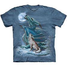 The Mountain DRAGON WOLF MOON Howling T-Shirt S-3XL