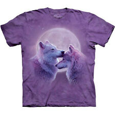 LOVING WOLVES T-Shirt by The Mountain Moonlight Wolf Full Moon Love S-3XL NEW