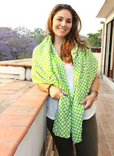 Checkered Summer Cotton Shawl-Crinkle Cotton Scarf