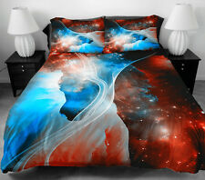 Colorful Galaxy Bedding Set Outer Space Quilt Cover Quilt Sheet 2 Pillow Case