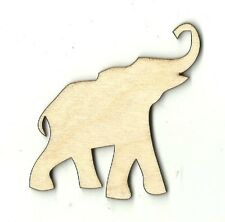 Elephant Unfinished Wood Shapes Craft Supplies Laser Cut Outs DIY ELE1