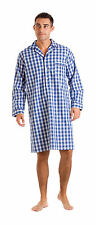 Haigman Men's Luxury Cotton Poplin Nightshirt Nightwear Loungewear 7391