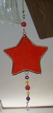 assorted Stained and fused glass Star ceiling fan lamp chain pulls