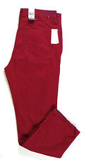BRAND NEW !!! MENS Nautica  LUXURY JEANS STRAIGHT fit  RED 100% COTTON 36W34L