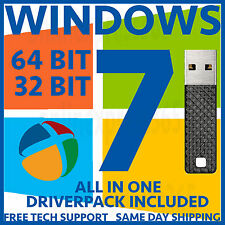 Windows 7 Ultimate Professional Home 32 64 Bit USB Installer + All Drivers Pack