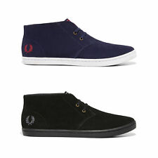 New Fred Perry Fashion Sneakers Byron Mid Suede Casual Leather Shoes B7400 Mens