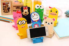Korean Cartoon Silicone Phone Desk Hold Mount Stand Holder For Mobile Cell Phone
