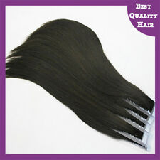 20 Pieces 20'' Skin Tape Remy Brazilian Human Hair Extensions Black Tape Hair
