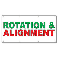 Rotation & Alignment Green Red Auto Car Repair Shop Vinyl Banner Sign
