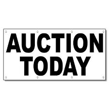 Auction Today Black 13 Oz Vinyl Banner Sign With Grommets