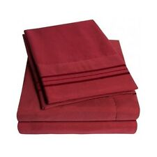 Bed Sheet Set 4 Piece Luxury Deep Pocket Comfort Collection 1500 All Size Colors