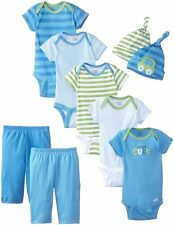 Gerber Baby Boys' Seriously Cute 9 Piece Bodysuits Pants and Caps Gift Set