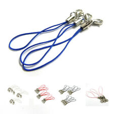 10pcs White Mobile Cell Phone cords Strap Lariat Lanyard Lobster Clasp WS