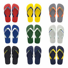 Original Havaianas Flip Flops New Brazil Logo Beach Sandals Men NIB All Sizes