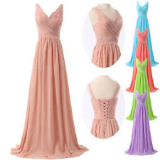 New Stock V Neck Formal Party Bridesmaid Dress Evening Cocktail Prom Gowns  6-20