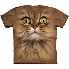 The Mountain BIG FACE BROWN CAT Funny Hairy Kitten T-Shirt S-5XL NEW