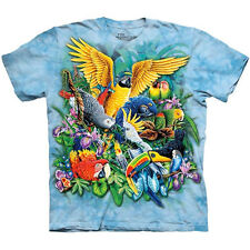 BIRDS OF THE TROPICS The Mountain Parrot Macaw Toucan Tropical T-Shirt S-3XL NEW