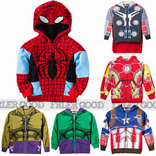 Boys Kids Avengers Clothes Girls Heroes Sweatshirt Hoodies Jacket Coat Outfit