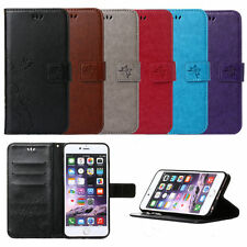 Luxury Flip Leather Wallet Card Kickstand Case Cover For iPhone 4S 5S 6 6S Plus