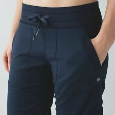 NEW Lululemon Dance Studio Pant II Sz 2 TALL Inkwell Navy Blue Lined Pants XS