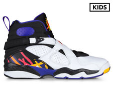 Nike Grade-School Kids' Air Jordan 8 Retro BG Shoe - White/Infrared 23/Black/Bri