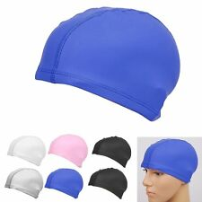 Unisex Adult Durable Flexible Sporty PU Swimming Waterproof Swim Cap Bathing Hat