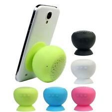 Waterproof Wireless Bluetooth Handsfree Mic Suction Mini Speaker Shower Car