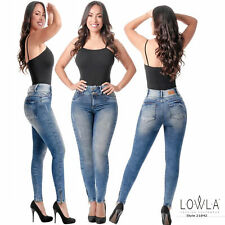 Colombian Jeans Push Up Butt Lifter White Fajate Virtual Sensuality Sexy Pants