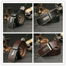 TA Men's Single-deck Cowhide Leather Auto Buckle Fashion Style Waistband Belt