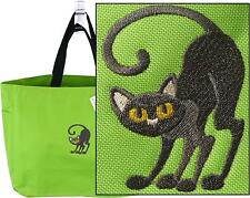 Black Cat Tote Bag Spooky Halloween Kitten Kitty Witch Monogram Handbag Candy