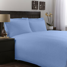 BRITISH 1200TC HOTEL STRIPE BEDDING COLLECTION SKY BLUE 100% COTTON IN ALL SIZE