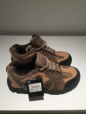 Mens Tan Walking Shoes Boot Style Trainer Hiking Light Trekking Trail Grip Size