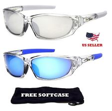 New X Loop Designer Mirror Sport Sunglasses With Plastic Frames For Men & Women