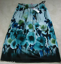 Per Una (M&S) Blue mix Floral Flared Skirt with Belt (NEW) sizes 14-£39.50