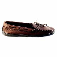Minnetonka, Moccasin,Men's Chocolate Moose With Sole 892