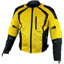 Xelement Cyclone Men Blk/yellow Mesh Tri-Tex Armored Motorcycle Jacket XS-3025