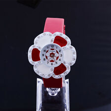 Fashion Ladies Big Flower Shape Dial Rhinestone Quartz Analog Women dress Watch