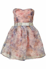 TOPSHOP FLORAL ORGANZA PROM DRESS BY DRESS UP SIZE 6/ 10