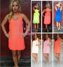 Summer Casual Womens Sexy Sleeveless Party Evening Cocktail Short Mini Dress L98