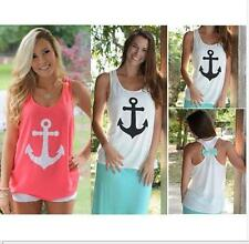 Summer Fashion Ladies Womens Bow Vest Top Blouse Casual Tank Tops T-Shirt L99