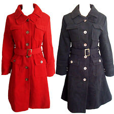 Fabulous Belted Winter Coat With Four Pockets Size 8, 12