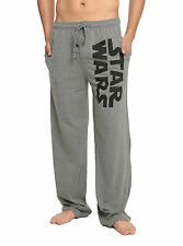NEW STAR WARS MOVIE LOGO GRAY PAJAMAS Lounge sleep PANTS PJS MENS S-XL LICENSED