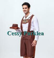 Mens Bavarian Guy German Lederhosen Beer Oktoberfest Costume M-XL