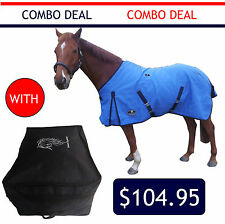 18oz unLined Canvas Immersion Treated Waterproof Horse Rug with Rug Storage Bag