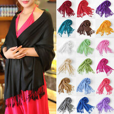 Womens Scarf Pashmina Shawl Faux Solid  Wrap Long  Cashmere Scarves lot Fashion